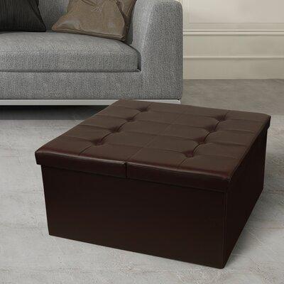 Tondola Button Folding Storage Ottoman Finish: Chocolate