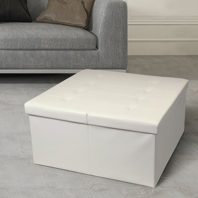 Tondola Button Folding Storage Ottoman Finish: Ivory