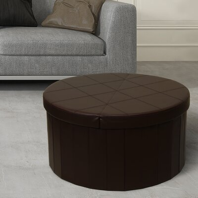Carrithers Line Folding Storage Ottoman Finish: Chocolate