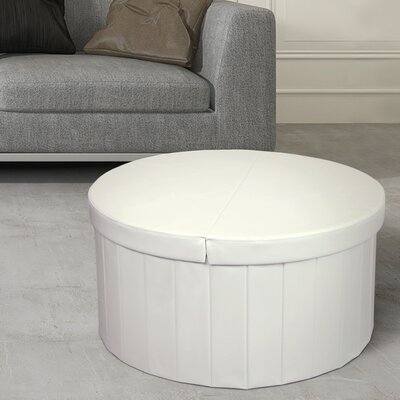 Carrithers Line Folding Storage Ottoman Finish: Ivory