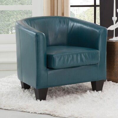 Colden Barrel Chair Upholstery: Peacock