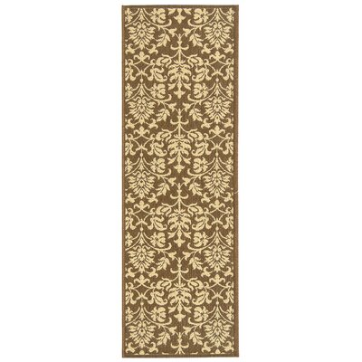 Short Classic Chocolate / Natural Outdoor Area Rug in , Rectangle 27 x 5
