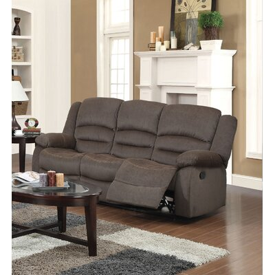 Dedmond Reclining Sofa Upholstery: Brown