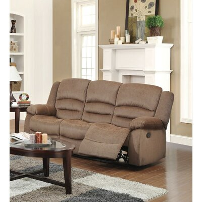 Dedmond Reclining Sofa Upholstery: Light Brown