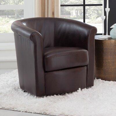 Pinehill Swivel Barrel Chair Upholstery: Brown