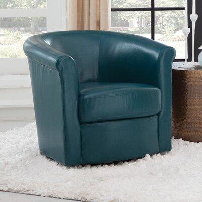 Pinehill Swivel Barrel Chair Upholstery: Teal