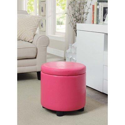 Garonzik Storage Ottoman Upholstery: Pink