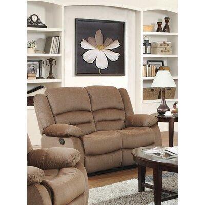 Dedmond Reclining Loveseat Upholstery: Light Brown