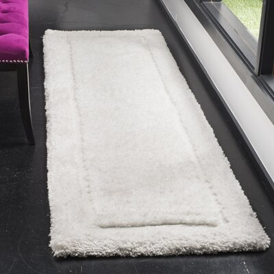 Wilbert Shag Hand-Tufted Ivory Area Rug Rug Size: Rectangle 23 x 8