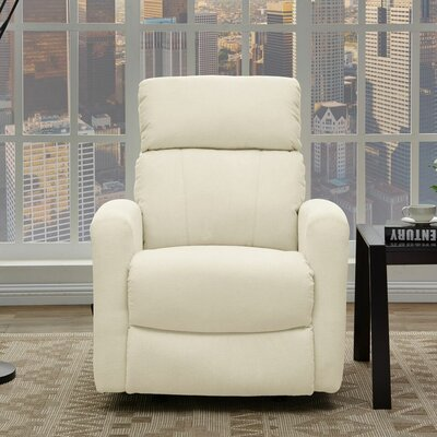 Wyant Manual Rocker Recliner Upholstery: Cream