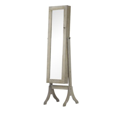 Charlotte Jewelry Armoire with Mirror Finish: Weathered