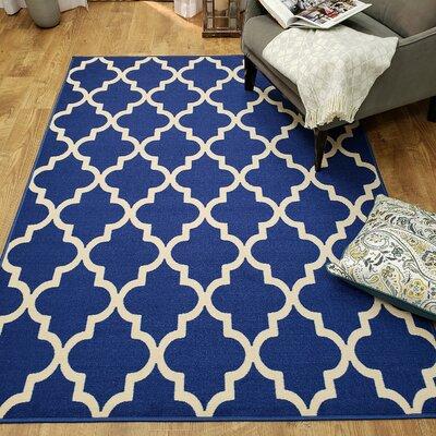 Hinnenkamp Trellis Blue Area Rug Rug Size: Rectangle 410 x 610