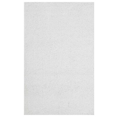 Mickelsen Solid White Area Rug Rug Size: Rectangle 8 x 10