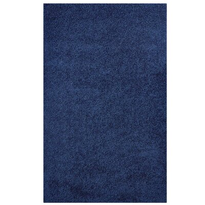 Mickelsen Solid Blue Area Rug Rug Size: Rectangle 8' x 10'