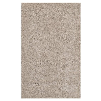Mickelsen Solid Beige Area Rug Rug Size: Rectangle 8' x 10'