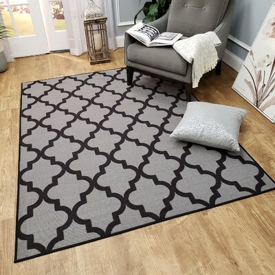 Hinnenkamp Trellis Dark Gray Area Rug Rug Size: Rectangle 410 x 610