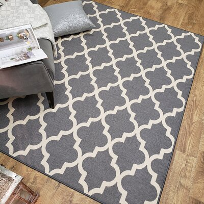 Hinnenkamp Trellis Gray Area Rug Rug Size: Rectangle 410 x 610