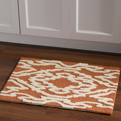 Savanah Hand-Tufted Brown/Ivory Outdoor Area Rug Rug Size: Rectangle 110 x 210