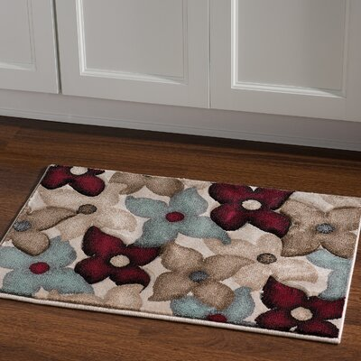 Carlee Sand/Garnet Area Rug Rug Size: Rectangle 110 x 210