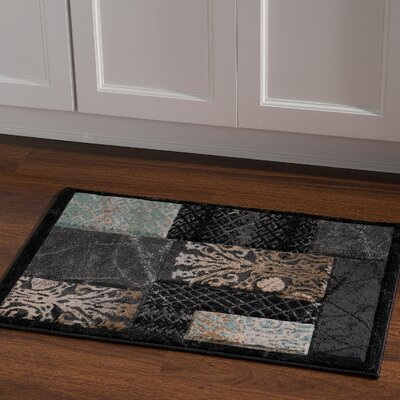 Carlee Black Area Rug Rug Size: Rectangle 110 x 210