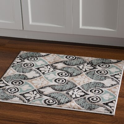Carlee Ivory Area Rug Rug Size: Rectangle 110 x 210