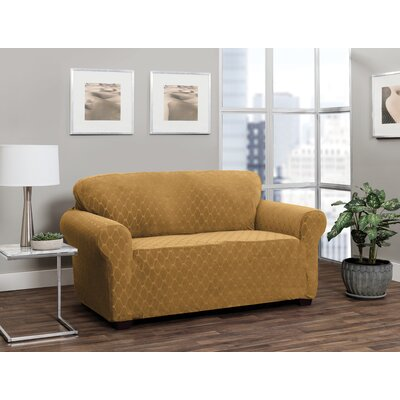 T-Cushion Sofa Slipcover Upholstery: Camel