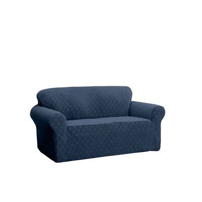 T-Cushion Sofa Slipcover Upholstery: Navy