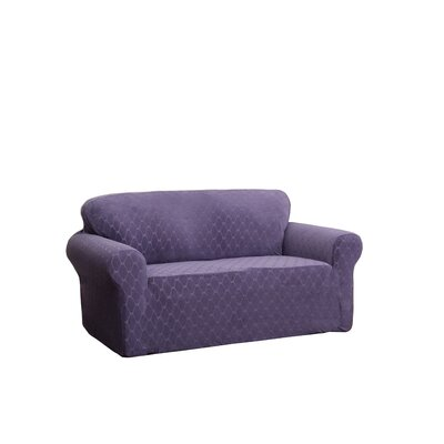 T-Cushion Sofa Slipcover Upholstery: Grape