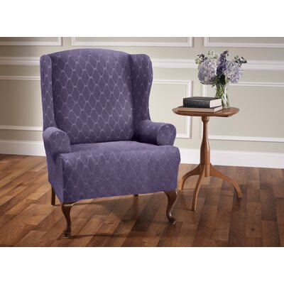 T-Cushion Wingback Slipcover Upholstery: Grape