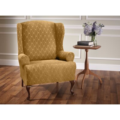 T-Cushion Wingback Slipcover Upholstery: Camel