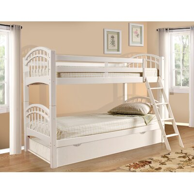 Cowen Twin Bunk Bed with Trundle Finish: White