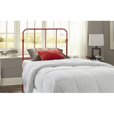 Collin Metal Kids Headboard Finish: Candy Red, Size: Twin