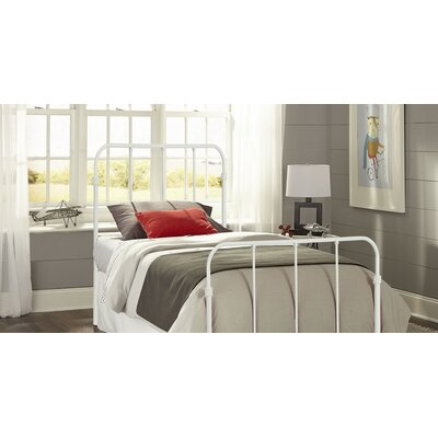Collin Kids Bed with Metal Duo Panels Finish: Artic White, Size: Full