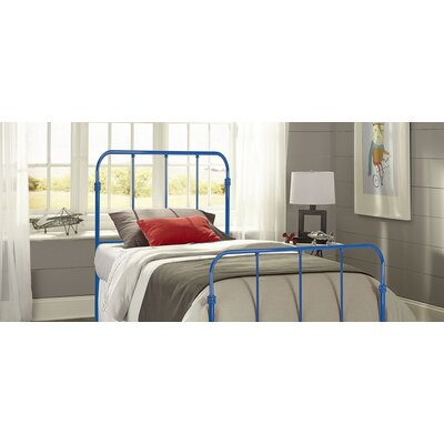 Collin Kids Bed with Metal Duo Panels Finish: Cobalt Blue, Size: Twin