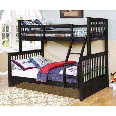 Kelli Twin Over Full Bunk Bed Without Drawers Finish: Charcoal