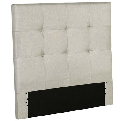 Betty Wood Upholstered Panel Headboard Size: Twin, Color: Gray