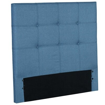 Betty Wood Upholstered Panel Headboard Size: Full, Color: Blue