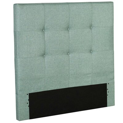 Betty Wood Upholstered Panel Headboard Size: Twin, Color: Celery Green