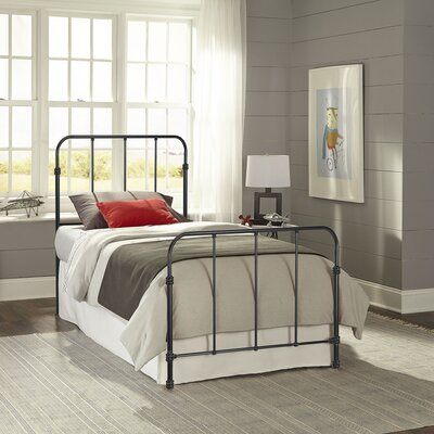 Collin Complete Kids Bed with Metal Duo Panel Size: Twin, Color: Space Black