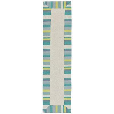 Misty Traditional Hand-Tufted Beige Indoor/Outdoor Area Rug Rug Size: Runner 2 x 8