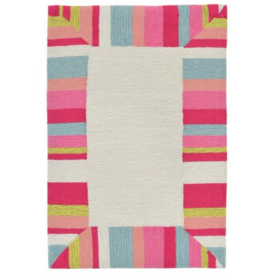 Misty Hand-Tufted Beige Indoor/Outdoor Area Rug Rug Size: 5 x 76