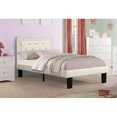 Balke Twin Platform Bed Color: Cream