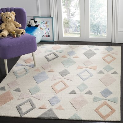 Claro Hand-Tufted Ivory Area Rug Rug Size: Rectangle 3 x 5