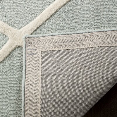 Claro Moroccan Hand-Tufted Mint Area Rug Rug Size: Rectangle 4 x 6