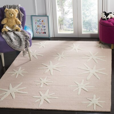 Claro Starbursts Hand-Tufted Pink Area Rug Rug Size: Rectangle 6 x 9