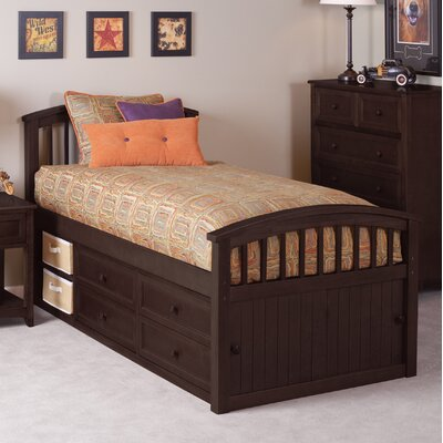 Lyric Captains Bed Size: Full, Color: Chocolate