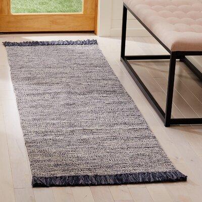 Zyra Hand-Woven Gray Area Rug Rug Size: Runner 23 x 7