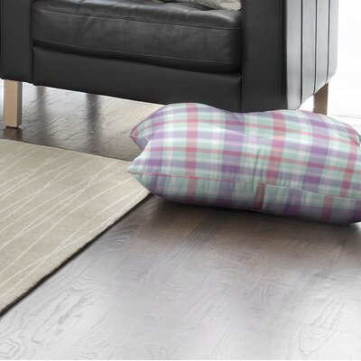 Abingdon Plaid Indoor/Outdoor Floor Pillow Size: 26 H x 26 W x 8 D