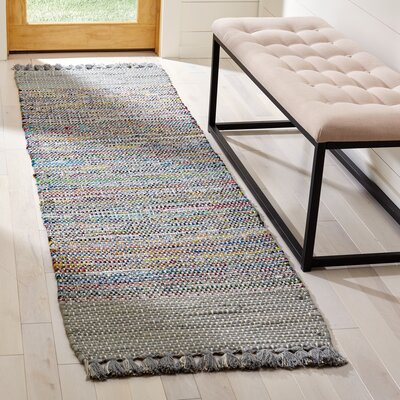 Abner Hand-Woven Gray/Yellow Area Rug Rug Size: Runner 23 x 8