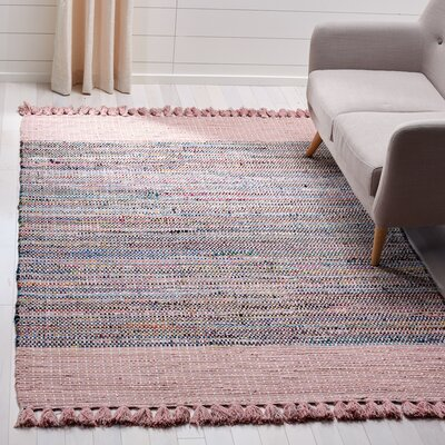 Abner Hand-Woven Pink/Gray Area Rug Rug Size: Rectangle 5 x 8